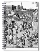 Bruegel: Ice Skaters Spiral Notebook