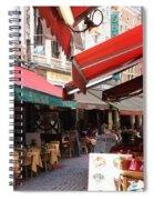 Brussels Restaurant Street - Rue De Bouchers Spiral Notebook
