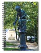 Brussels Royal Garden Fountain Spiral Notebook