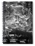 Bubble Blower Of Central Aprk In Black And White Spiral Notebook