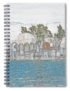 Bubble House In Pencil Skech Spiral Notebook
