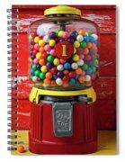 Bubblegum Machine And Gum Spiral Notebook