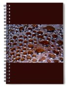 Bubbles Of Steam Cherry Wine Red Spiral Notebook