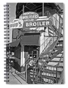 Bud'd Broiler New Orleans-bw Spiral Notebook