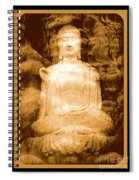 Buddha And Ancient Tree With Border Spiral Notebook