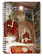 Buddha Image In Po Win Taung Caves. Spiral Notebook