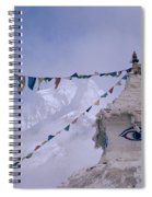 Buddhist Shrine In The Himalayas Spiral Notebook