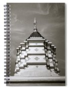 Buddhist Temple Wat Luang In Chiang Khong In Thailand Spiral Notebook