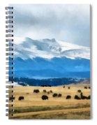 Buffalo Herd Painterly Spiral Notebook