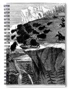 Buffalo Hunt, 1834 Spiral Notebook