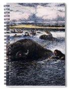 Buffalo Hunt, 1874 Spiral Notebook