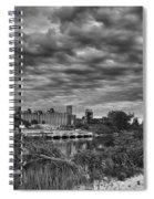 Buffalo Mills Under Clouds Spiral Notebook