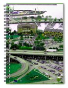 Buffalo New York Waterfront Aerial View Ultraviolet Effect Spiral Notebook