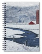 Buffalo River Valley In Snow Spiral Notebook