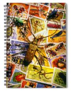 Bugs On Postage Stamps Spiral Notebook
