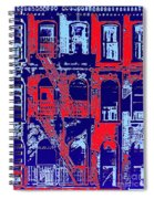 Building Facade In Blue And Red Spiral Notebook