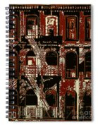 Building Facade In Brown And Red Spiral Notebook