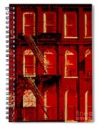 Building Facade In Red And White Spiral Notebook