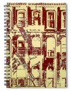 Building Facade Line Art Spiral Notebook