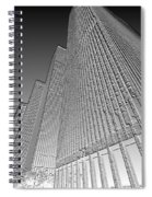 Building In Monochrome Spiral Notebook