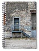 Building No.3 Garage Door Spiral Notebook