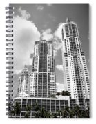 Buildings Downtown Miami Spiral Notebook