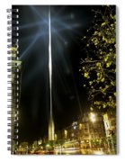 Buildings Lit Up At Night, Oconnell Spiral Notebook