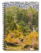 Bull Elk Lake Crusing With Autumn Colors Spiral Notebook
