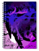 Bull On The Move Spiral Notebook