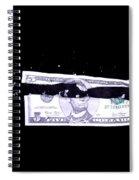 Bullet Hitting A Five Dollar Bill Spiral Notebook