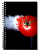 Bullet Hitting A Tomato Spiral Notebook