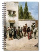 Bullfighters Preparing For The Fight  Spiral Notebook