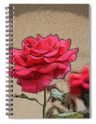 Bumble Bee And Rose Spiral Notebook