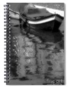 Burano Reflections Bw Spiral Notebook