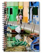 Burano Reflections Spiral Notebook