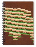 Burger Town Usa Map Brown Spiral Notebook