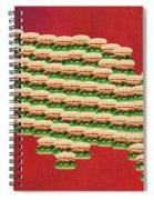 Burger Town Usa Map Red Spiral Notebook