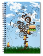 Burger Tree House And The Cupcake Kids  Spiral Notebook