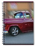 Burgundy Hot Rod Pick Up Abstract Spiral Notebook