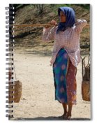Burman Woman And Son Spiral Notebook