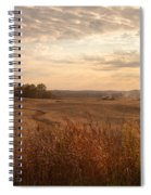 Burning Leaves On The Farm Spiral Notebook