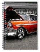 Burnt Orange Chevy Abstract Spiral Notebook