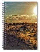 Burnt Orange Sunrise Spiral Notebook