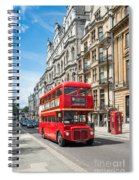 Bus On Piccadilly Spiral Notebook