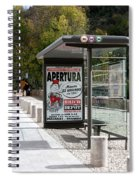 Bus Stop Bus Goes Spiral Notebook