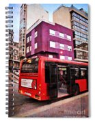 Bus Stop - La Coruna Spiral Notebook