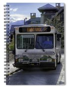 Bus To East Vail - Colorado Spiral Notebook