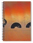 Bush Fire Three Spiral Notebook