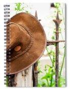 Bush Hat On Railing Spiral Notebook