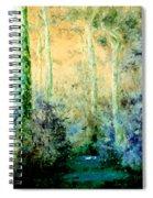 Bush Trail At Sunrise Spiral Notebook
